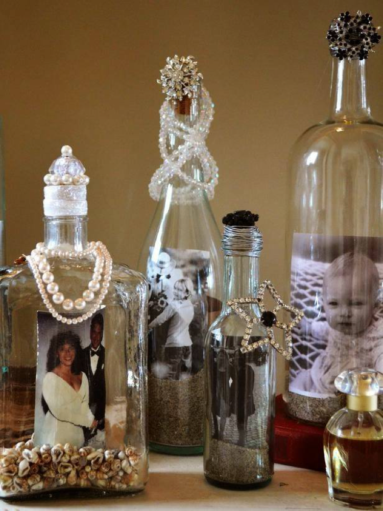 refurbished bottle art
